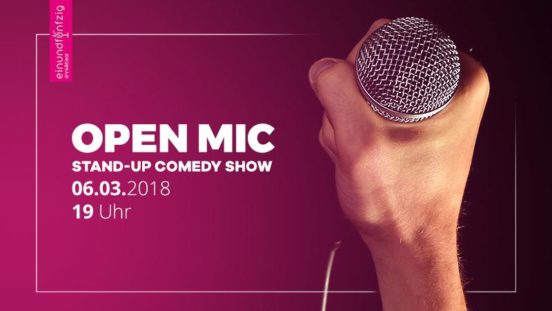 06.03.2018 – Open Mic-Comedy-Show Punchline @Einundfünfzig