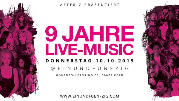 11. Okt 2018 – 8 Jahre live musik – After7