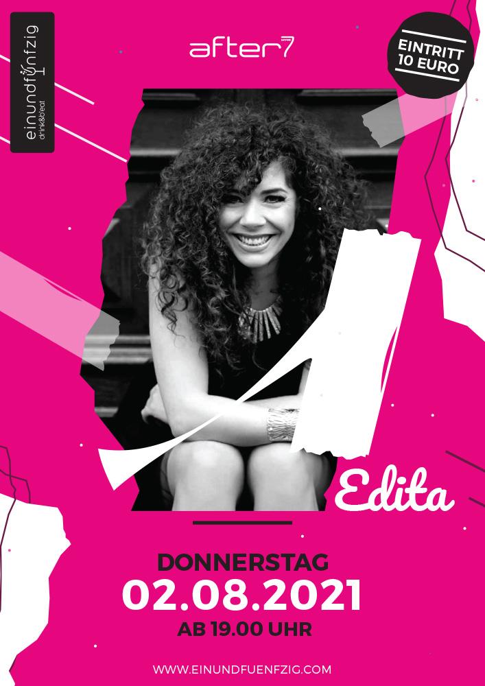After 7 Re-Opening: LIVE Musik mit Edita Abdieski & Stand Up Comedy Show